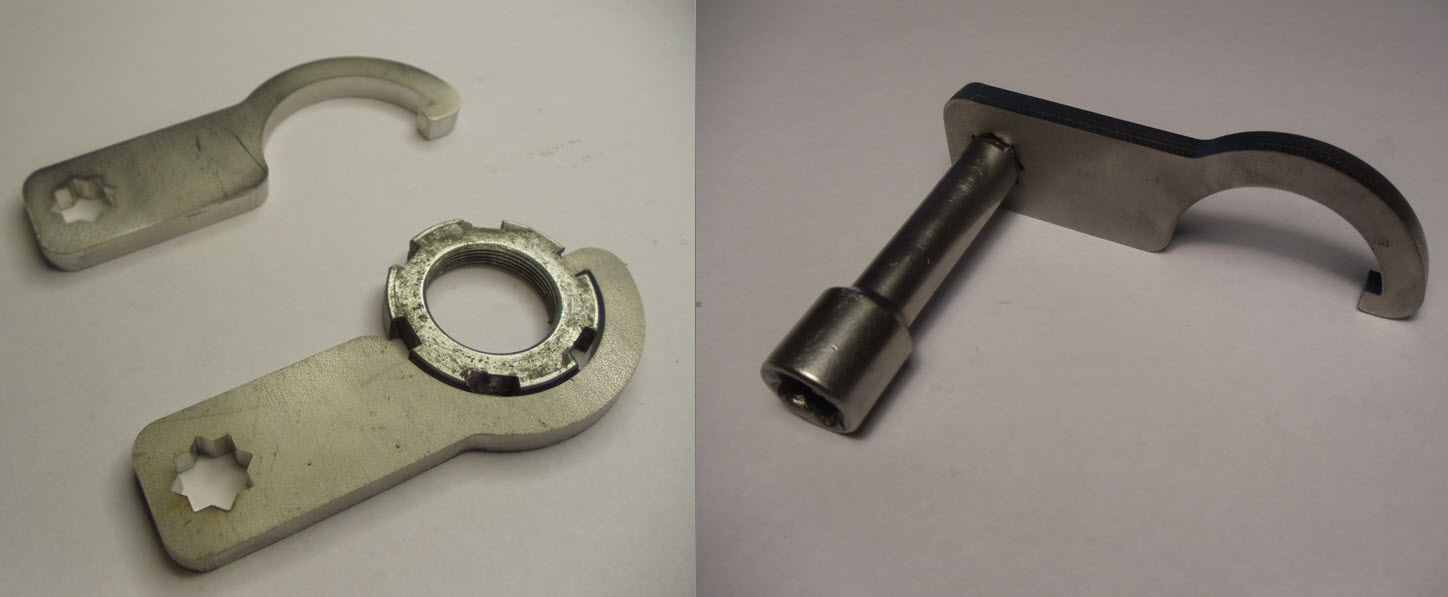 YAMAHA STEERING STEM HEAD STOCK C SPANNER WRENCH ADJUSTER TOOL YZF-R1 1000 2015