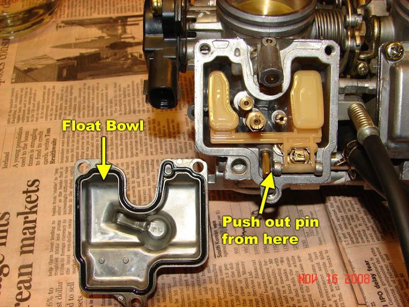 HOW TO: 98-01 R1 Remove Fuel Tank, Airbox, Carburetors and
